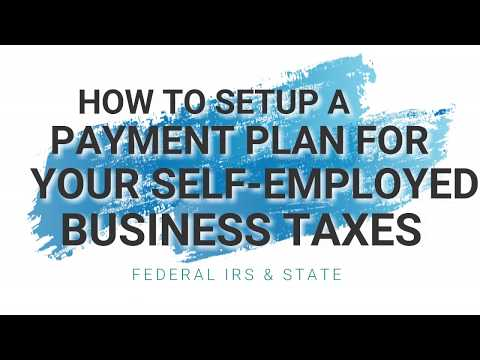 HOW TO SETUP A TAX PAYMENT PLAN WITH THE IRS & STATE (for your self-employed business)