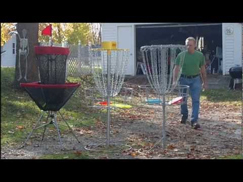 Homemade Disc Golf basket II V.S. store bought.