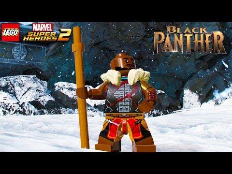 LEGO Marvel Super Heroes 2 - M'Baku (Black Panther Movie) Free Roam Gameplay (Custom Character)