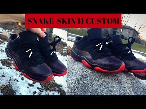 Snake-Skin 11 Low Custom!!