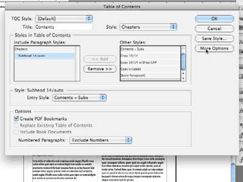 Adobe InDesign CS5.5 - Long Documents Tutorial