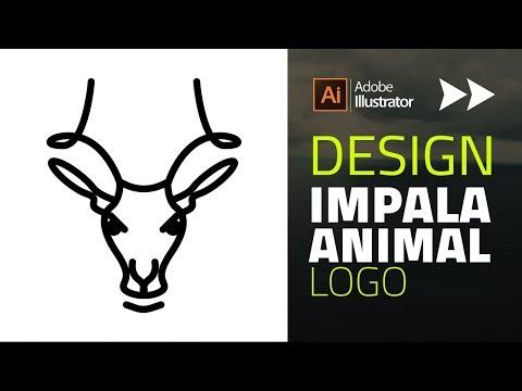 How to design Impala logo from Digital Sketch | Adobe Illustrator speed Art