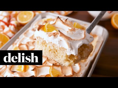 Lemon Meringue Poke Cake | Delish + Sunkist