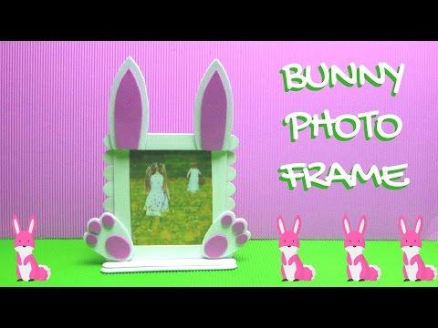 Popsicle Stick Craft - Bunny Photo Frame - Easter Crafts