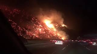 Wildfire on Sepulveda pass of the 405 - 978705