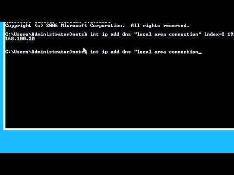 Adding alternate DNS using netsh
