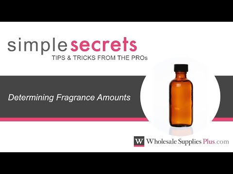 How to Determine Fragrance Amounts for Soaps and Cosmetics {Simple Secrets}