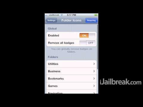 FolderIcons Cydia Tweak: Custom Icons For iOS Folders (iPhone, iPod Touch, iPad)