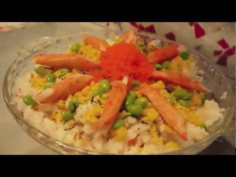 How to cheat in Cooking Japanese (Chirashi zushi)