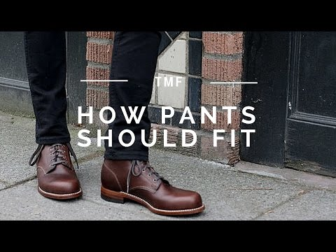 Getting the Right Fit on Trousers/Pants