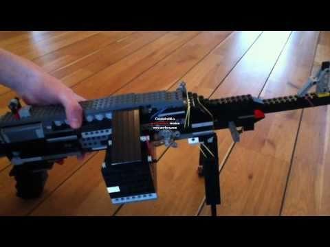 Lego Electric Machine Gun (working)