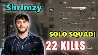 Soniqs Shrimzy - 22 KILLS - M416 + Mini14 - SOLO SQUAD! - PUBG