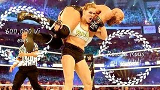 WWE WRESTLEMANIA - Kurt Angle and Ronda Rousey vs Triple H and Stephanie McMahon Full Match