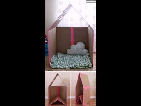 DIY Cardboard Kids Play House
