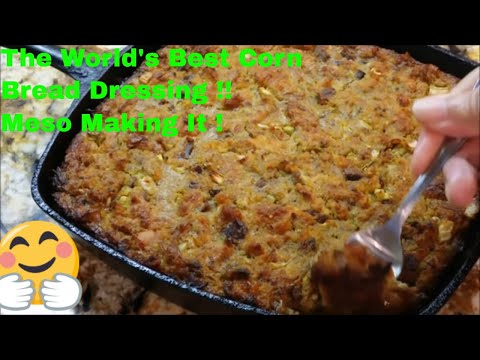 How To Make The Worlds Best Southern Cornbread Dressing: Crispy Outside Creamy Inside