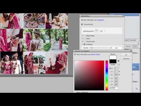 Collage van 9 vierkante foto's met Photoshop Elements 13