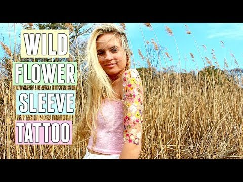 WILD FLOWER SLEEVE TATTOO!! 🌻🌸🌼 DIY Body Art | Summer Outfit Ideas! Festival DIY SLEEVE TATTOO