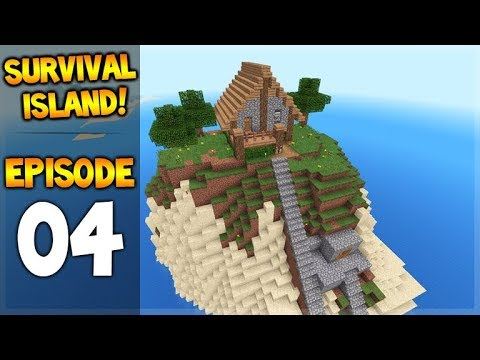 Minecraft Pocket Edition - Survival Island - The House On The Hill! Episode 4