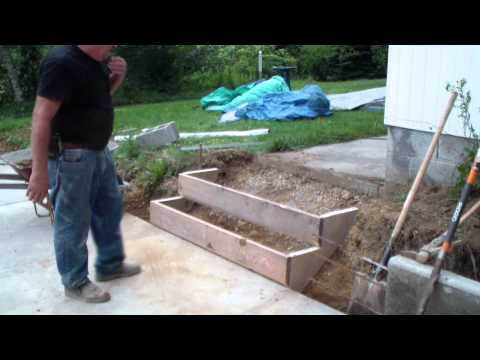 Forming a set of cement steps, (part two)