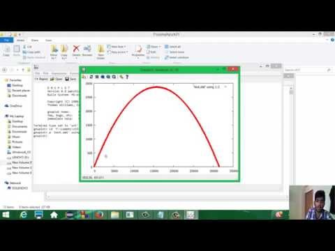 Gnu Plot : Plotting Graphs in Windows, Linux Using  Gnu Plot
