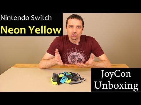 Neon Yellow Joycon Unboxing