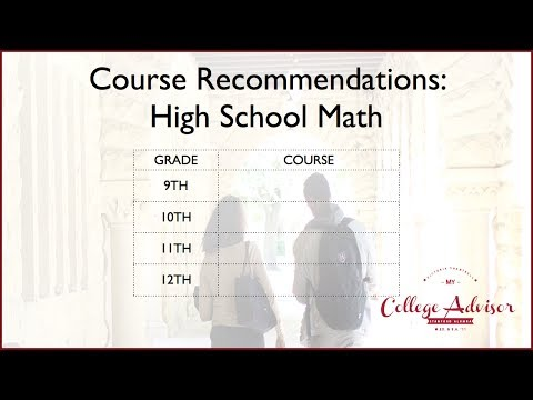 What Math Courses Should I Take in High School?