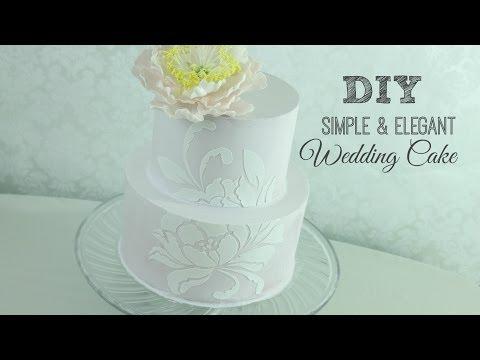 DIY Simple & Elegant Wedding Cake