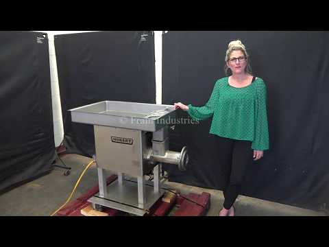Hobart, Model 4732A, stainless steel meat grinder