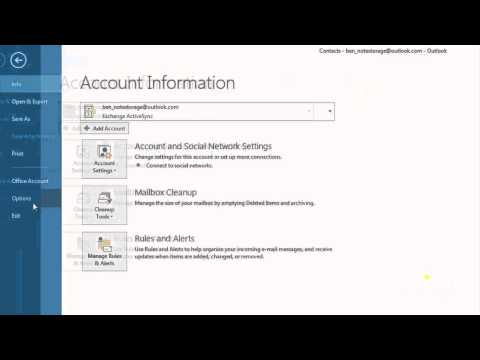 Using Address Books and Contacts Tutorial in Microsoft Outlook 2013 | Universal Class