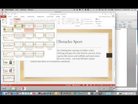 Change Layout of Slide to Two Content Using PowerPoint 2013
