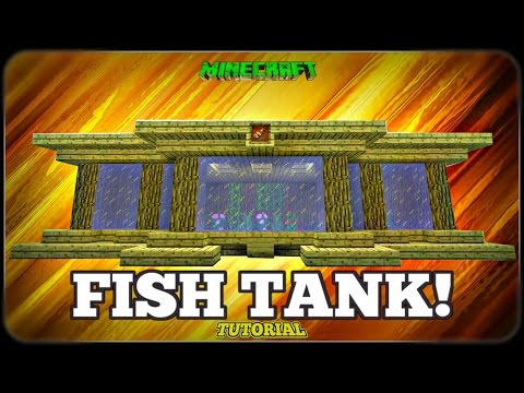 Minecraft: How To Build A Fish Tank Tutorial (Easy Aquarium Tutorial) (TU35)