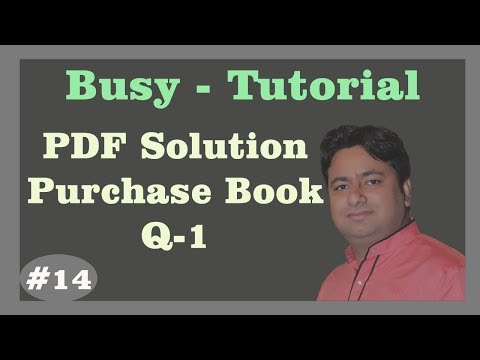 Busy Tutorial - Q1 : Purchase book Invoice in Busy | Busy Tutorial in hindi | Learn Busy Advance