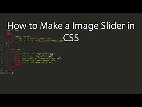 How to create a Image Slider in CSS
