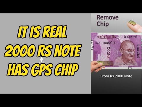 TRUTH BEHIND THE CHIP IN  2000 RS NOTE ,VIRAL VIDEO, FAKE CHIP