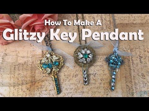 How To Make A Glitzy Key Pendant