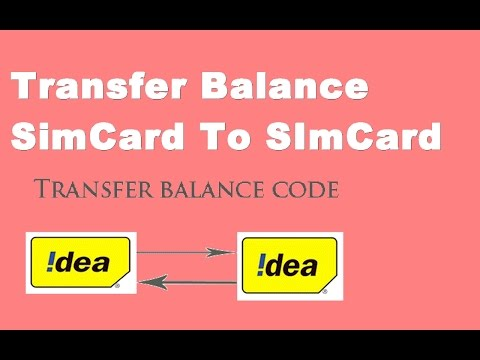 How To Transfer Balance From Sim Card To Other Sim Card [balance transfer mobile to mobile]