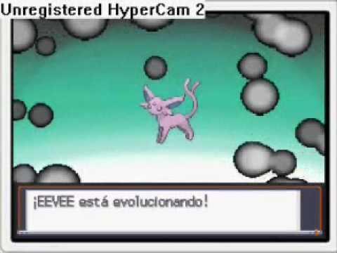 Pokemon Eevee evolves to Espeon
