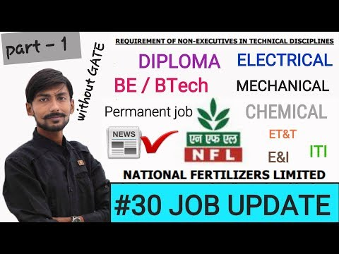 NFL JE recruitment 2018 |BE/BTech /DIPLOMA| 129 posts  #30 JOB UPDATE(part1)