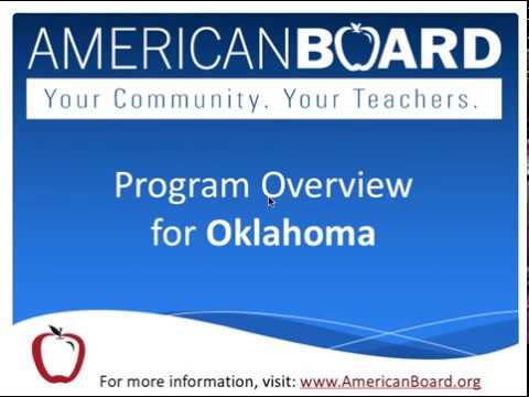Online Teacher Certification in Oklahoma | American Board Program