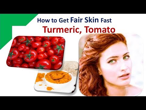 Home Remedies on How to Get Fair Skin Fast Permanently - Turmeric for Whiter Fairer Ski