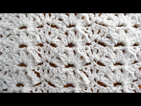 Whiteout Shells Crochet Stitch - Right Handed Crochet Tutorial