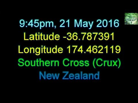 The New Zealand Sky - Southern Cross (Crux) and Other Stars etc