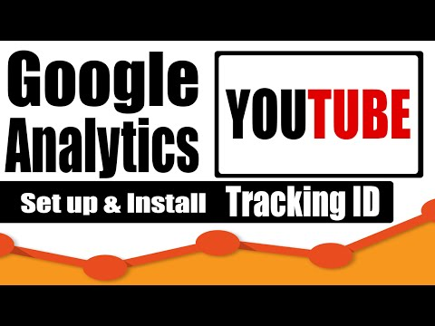 How to set up google analytics tracking ID in youtube channel