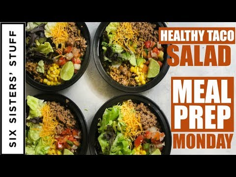 Southwest Burrito Bowls Meal prep Monday (AKA Healthy Taco Salad) Week 2