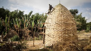 Amazing Woven Bamboo House -Traditional Green Building