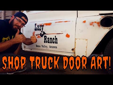 Turbo LS Patina Shop Truck Door Art