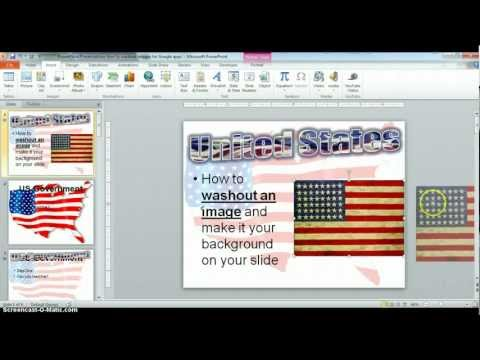 How to Washout Images for Google Presentations