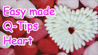 Recycling Art and Crafts Ideas: DIY Valentine's Day Gift from Q-Tips | Recycled Bottles Crafts