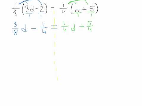 Solving Equations with the Variable on Both Sides and Fractions