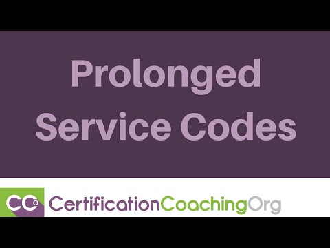 Prolonged Service Codes